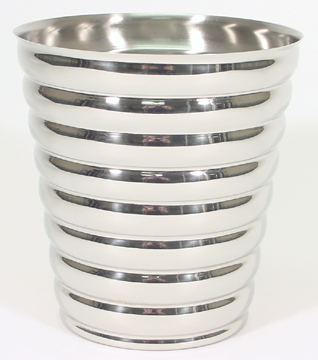 Beehive Style Polished Stainless Steel Champagne Bucket