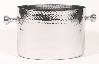 Hammered Chrome Double Champagne Bucket