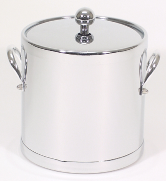 Chrome Insulated Ice Bucket with Side Handles