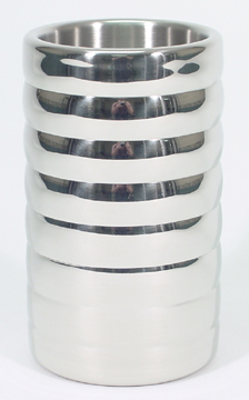 Beehive Style Polished Stainless Steel Flower Vase
