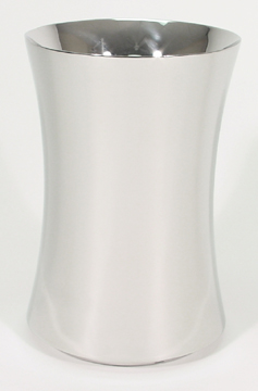 Hourglass Style Polished Stainless Steel Flower vase
