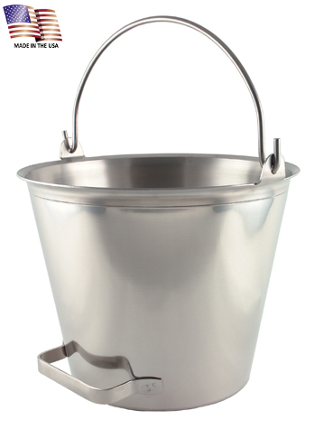 13 Quart Stainless Steel Pail with Tilting Handle