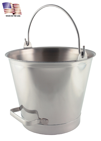 13 Quart Stainless Steel Pail with Chime and Tilting Handle