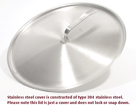 Lid/Cover for Nine Quart Stainless Steel Pail