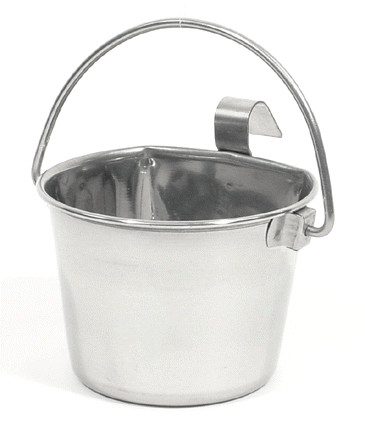 1 Quart Flat Sided Stainless Steel Pail with Hook