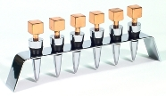 Copper Square Shaped Bottle Stopper Set with Stand