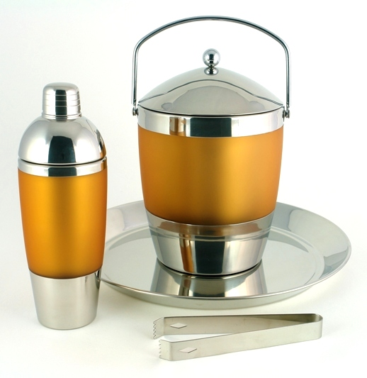 Tangerine Barware Set