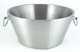 "15"" Diameter Stainless Steel Beverage Tub"