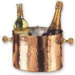 Hammered Copper Double Champagne Bucket
