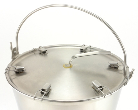 Locking Lid/Cover for 13 Quart Stainless Steel Pail