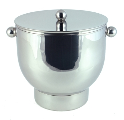 Four Quart Polished Stainless Steel Ice Bucket
