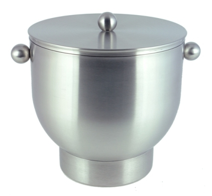Four Quart Brushed Stainless Steel Ice Bucket